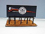 Wood Billboard w/4 SP ''Daylight'' Signs -- HO Scale Model Railroad Billboard Sign -- #89