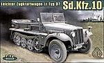 SdKfz 10 (Demag D7) Light Infantry Halftrack -- Plastic Model Halftrack Kit -- 1/72 -- #72225