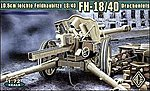 German leFh18/40 10.5cm WWII Field Howitzer -- Plastic Model Artillery Kit -- 1/72 Scale -- #72226
