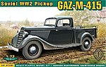 GAZ-11-415 WWII Soviet Pickup Truck -- Plastic Model Military Truck Kit -- 1/72 Scale -- #72285