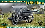 German leFH16(RH) 10.5cm WWII Field Howitzer -- Plastic Model Artillery Kit -- 1/72 Scale -- #72290