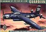 AF2S/3S Grumman Guardian Bomber w/Photo-Etched -- Plastic Model Airplane Kit -- 1/72 -- #72305