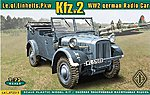Kfz2 WWII German Radio Car -- Plastic Model Personnel Carrier Kit -- 1/72 Scale -- #72511