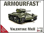 Valentine Mk II Tank w/Side Skirts (2) -- Plastic Model Tank Kit -- 1/72 Scale -- #99030