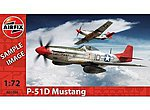 P-51D Mustang -- Plastic Model Airplane Kit -- 1/72 Scale -- #01004