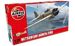 A6M2b Zero Aircraft -- Plastic Model Airplane Kit -- 1/72 Scale -- #01005
