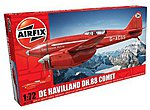 DeHavilland DH88 Comet Racer Red RAF Aircraft -- Plastic Model Airplane Kit -- 1/72 -- #01013