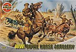 WWI Royal Horse Artillery Figure Set -- Plastic Model Military Figure -- 1/72 Scale -- #01731