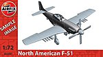 P-51f Mustang -- Plastic Model Airplane Kit -- 1/72 Scale -- #02047