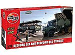 Bedford QLT & QLD Military Trucks (2 Kits) -- Plastic Model Military Vehicle Kit -- 1/76 -- #03306