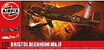 Bristol Blenheim Mk1F Aircraft -- Plastic Model Airplane Kit -- 1/72 Scale -- #4059