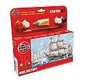 HMS Victory Sailing Ship (6L) -- Plastic Model Sailing Ship Kit -- #55104