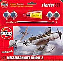 Messerschmitt Bf 109E Starter Set -- Plastic Model Airplane Kit -- 1/72 Scale -- #55106