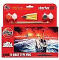 Das Boot U-Boat Type VIIC Starter Set -- Plastic Model Military Ship Kit -- 1/400 Scale -- #55113