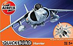 BAe Harrier Aircraft Quick Build Kit -- Snap Tite Plastic Model Aircraft -- #j6009