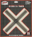 Code 55 Track 90 Degree Crossing -- N Scale Nickel Silver Model Train Track -- #2045