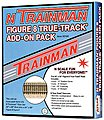 Trainman(R) True Track Add-On Pack - 24 x 56'' -- N Scale Nickel Silver Model Train Track -- #2150