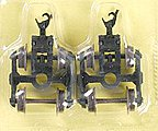 70T RB Trucks w/AccuMate Couplers (2) -- N Scale Model Train Coupler -- #22056
