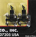 (bulk of 12) (bulk of 12) 70T Roller Bearing Trucks w/A-M Couplers (2) -- N Scale Model Train Parts -- #22081