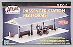 Passenger Station Platform Kit (2) -- N Scale Model Railroad Trackside Accessory -- #2842
