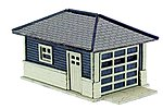 Barb's Bungalow Garage Wooden Kit (2) -- N Scale Model Railroad Building -- #2860