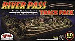 River Pass Track Pack Includes Code 83 -- HO Scale Nickel Silver Model Train Track -- #578