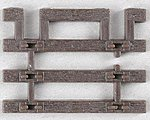 Code 83 Flex Track End Tie (12) -- HO Scale Nickel Silver Model Train Track -- #598