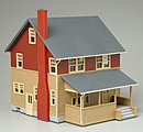 Kate's Colonial Home - Assembled -- HO Scale Model Railroad Building -- #611