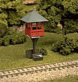 Elevated Gate Tower Kit -- HO Scale Model Railroad Building -- #701