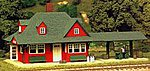 Passenger Station Kit -- HO Scale Model Railroad Building -- #706