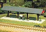 Station Platform - Kit -- HO Scale Model Railroad Building -- #707