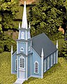 Colonial Church Kit -- HO Scale Model Railroad Building -- #708