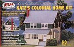 Kate's Colonial Home Kit -- HO Scale Model Railroad Building -- #711