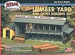 Lumber Yard & Office Kit -- HO Scale Model Railroad Building -- #750