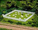 Sheep 18 White/1 Black (19) -- HO Scale Model Railroad Figure -- #779