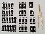 Code 100 Straight Track Astd N/S (12) -- HO Scale Nickel Silver Model Train Track -- #847