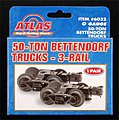 50-Ton Bettendorf Trucks 3-Rail - 1 Pair -- O Scale Model Train Truck -- #6032