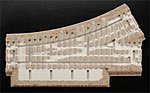 3-Rail Switches and Crossings - O-45 Left Hand Switch -- O Scale Model Train Track Roadbed -- #66085