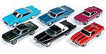 AutoWorld Diecast Set (6 Cars) -- Diecast Model Car -- 1/64 Scale -- #64002b