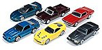 AutoWorld Diecast Set (6 Cars) -- Diecast Model Car -- 1/64 Scale -- #64011b