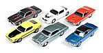 AutoWorld Diecast Set (6 Cars) -- Diecast Model Car -- 1/64 Scale -- #64023b