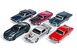 AutoWorld Diecast Set (6 Cars) -- Diecast Model Car -- 1/64 Scale -- #64032a