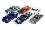 AutoWorld Diecast Set (6 Cars) -- Diecast Model Car -- 1/64 Scale -- #64032b