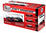 3-in-1 Auto Plastic Display Showcase for 1/64, 1/43, 1/24 w/Black Base & Interchangeable Inserts