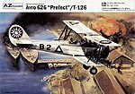 Avro 626 Prefect/Tatra T126 Trainer BiPlane -- Plastic Model Airplane Kit -- 1/72 Scale -- #7230