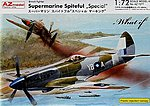 Supermarine Spiteful Special British Fighter -- Plastic Model Airplane Kit -- 1/72 Scale -- #7277