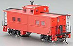 Northeast Steel Caboose Painted Unlettered -- HO Scale Model Train Freight Car -- #16806
