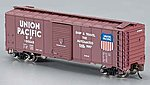AAR 40' Steel Box Union Pacific - Automated Railway -- N Scale Model Train Freight Car -- #17053