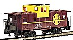 36' Wide Vision Caboose Santa Fe #999628 -- HO Scale Model Train Freight Car -- #17702