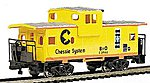 36' Wide Vision Caboose Chessie -- HO Scale Model Train Freight Car -- #17709